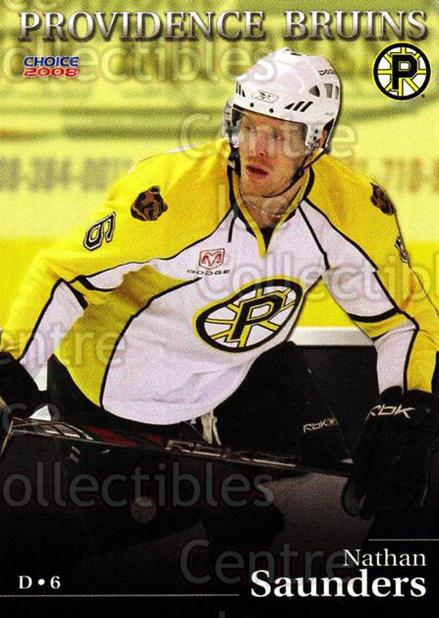 2007-08 Providence Bruins #16 Nathan Saunders<br/>8 In Stock - $3.00 each - <a href=https://centericecollectibles.foxycart.com/cart?name=2007-08%20Providence%20Bruins%20%2316%20Nathan%20Saunders...&price=$3.00&code=230022 class=foxycart> Buy it now! </a>