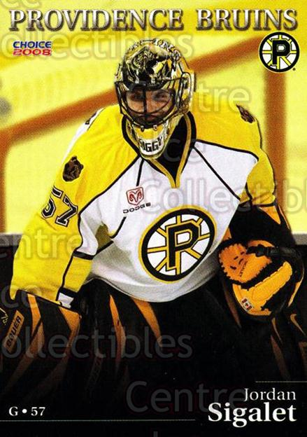 2007-08 Providence Bruins #19 Jordan Sigalet<br/>8 In Stock - $3.00 each - <a href=https://centericecollectibles.foxycart.com/cart?name=2007-08%20Providence%20Bruins%20%2319%20Jordan%20Sigalet...&price=$3.00&code=230025 class=foxycart> Buy it now! </a>