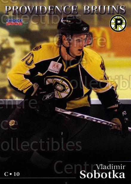 2007-08 Providence Bruins #21 Vladimir Sobotka<br/>6 In Stock - $3.00 each - <a href=https://centericecollectibles.foxycart.com/cart?name=2007-08%20Providence%20Bruins%20%2321%20Vladimir%20Sobotk...&price=$3.00&code=230027 class=foxycart> Buy it now! </a>