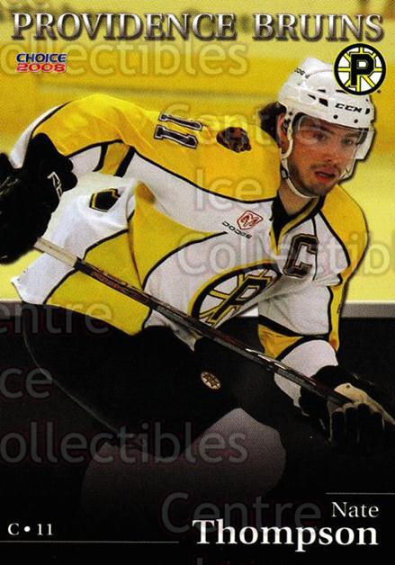 2007-08 Providence Bruins #22 Nate Thompson<br/>8 In Stock - $3.00 each - <a href=https://centericecollectibles.foxycart.com/cart?name=2007-08%20Providence%20Bruins%20%2322%20Nate%20Thompson...&price=$3.00&code=230028 class=foxycart> Buy it now! </a>