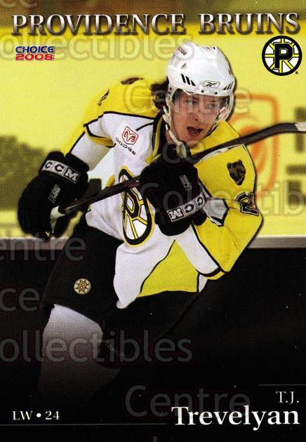 2007-08 Providence Bruins #24 TJ Trevelyan<br/>8 In Stock - $3.00 each - <a href=https://centericecollectibles.foxycart.com/cart?name=2007-08%20Providence%20Bruins%20%2324%20TJ%20Trevelyan...&price=$3.00&code=230030 class=foxycart> Buy it now! </a>