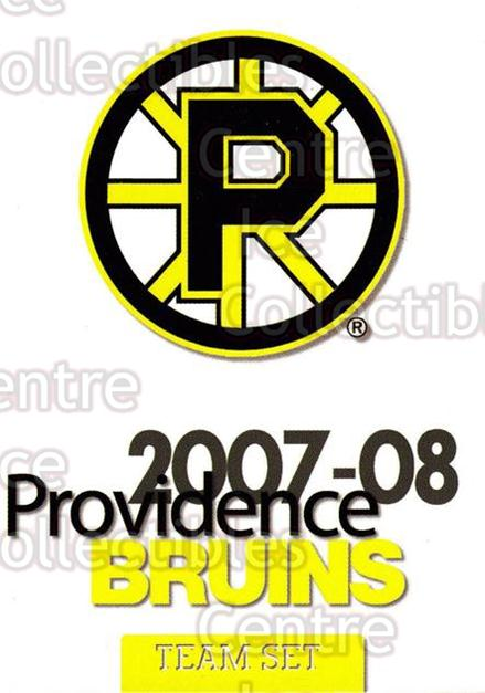 2007-08 Providence Bruins #26 Checklist<br/>9 In Stock - $3.00 each - <a href=https://centericecollectibles.foxycart.com/cart?name=2007-08%20Providence%20Bruins%20%2326%20Checklist...&price=$3.00&code=230032 class=foxycart> Buy it now! </a>