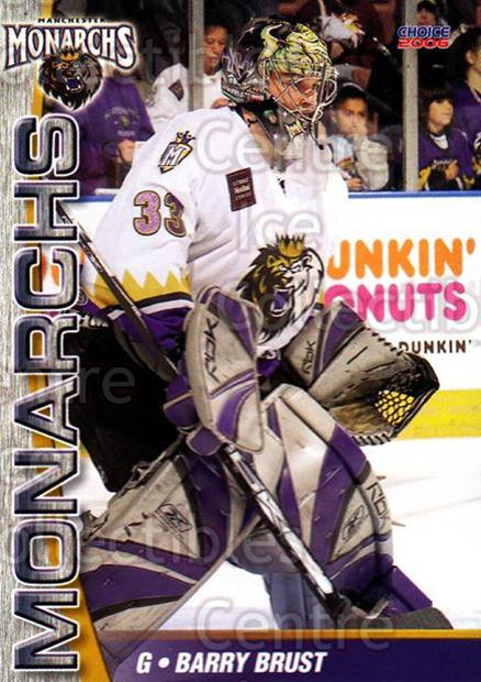 2006-07 Manchester Monarchs #1 Barry Brust<br/>4 In Stock - $3.00 each - <a href=https://centericecollectibles.foxycart.com/cart?name=2006-07%20Manchester%20Monarchs%20%231%20Barry%20Brust...&quantity_max=4&price=$3.00&code=230057 class=foxycart> Buy it now! </a>