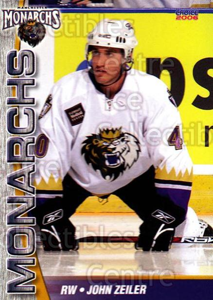 2006-07 Manchester Monarchs #10 John Zeiler<br/>6 In Stock - $3.00 each - <a href=https://centericecollectibles.foxycart.com/cart?name=2006-07%20Manchester%20Monarchs%20%2310%20John%20Zeiler...&quantity_max=6&price=$3.00&code=230066 class=foxycart> Buy it now! </a>
