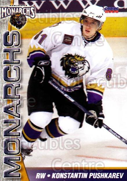 2006-07 Manchester Monarchs #11 Konstantin Pushkarev<br/>7 In Stock - $3.00 each - <a href=https://centericecollectibles.foxycart.com/cart?name=2006-07%20Manchester%20Monarchs%20%2311%20Konstantin%20Push...&quantity_max=7&price=$3.00&code=230067 class=foxycart> Buy it now! </a>