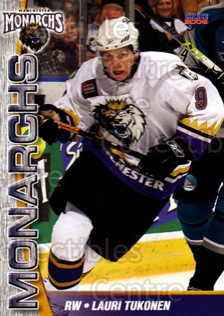 2006-07 Manchester Monarchs #12 Lauri Tukonen<br/>3 In Stock - $3.00 each - <a href=https://centericecollectibles.foxycart.com/cart?name=2006-07%20Manchester%20Monarchs%20%2312%20Lauri%20Tukonen...&quantity_max=3&price=$3.00&code=230068 class=foxycart> Buy it now! </a>