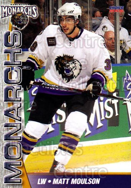 2006-07 Manchester Monarchs #13 Matt Moulson<br/>7 In Stock - $3.00 each - <a href=https://centericecollectibles.foxycart.com/cart?name=2006-07%20Manchester%20Monarchs%20%2313%20Matt%20Moulson...&quantity_max=7&price=$3.00&code=230069 class=foxycart> Buy it now! </a>