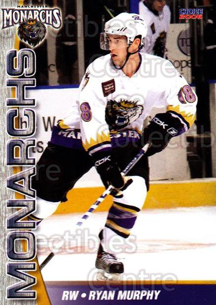 2006-07 Manchester Monarchs #19 Ryan Murphy<br/>7 In Stock - $3.00 each - <a href=https://centericecollectibles.foxycart.com/cart?name=2006-07%20Manchester%20Monarchs%20%2319%20Ryan%20Murphy...&quantity_max=7&price=$3.00&code=230075 class=foxycart> Buy it now! </a>