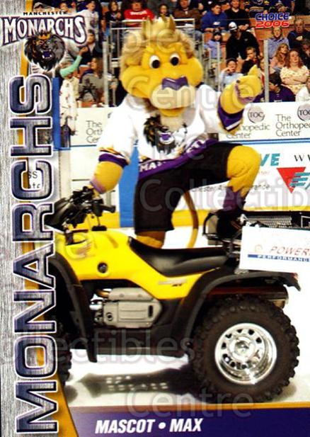 2006-07 Manchester Monarchs #24 Mascot<br/>7 In Stock - $3.00 each - <a href=https://centericecollectibles.foxycart.com/cart?name=2006-07%20Manchester%20Monarchs%20%2324%20Mascot...&quantity_max=7&price=$3.00&code=230080 class=foxycart> Buy it now! </a>