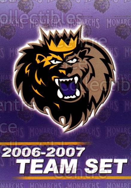 2006-07 Manchester Monarchs #25 Checklist<br/>6 In Stock - $3.00 each - <a href=https://centericecollectibles.foxycart.com/cart?name=2006-07%20Manchester%20Monarchs%20%2325%20Checklist...&quantity_max=6&price=$3.00&code=230081 class=foxycart> Buy it now! </a>