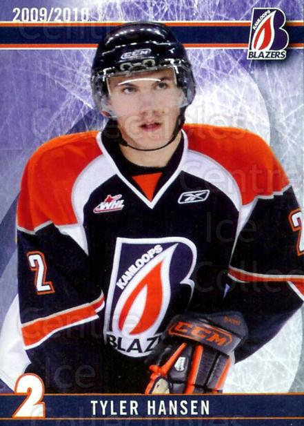 2009-10 Kamloops Blazers #1 Tyler Hansen<br/>2 In Stock - $3.00 each - <a href=https://centericecollectibles.foxycart.com/cart?name=2009-10%20Kamloops%20Blazers%20%231%20Tyler%20Hansen...&quantity_max=2&price=$3.00&code=230083 class=foxycart> Buy it now! </a>