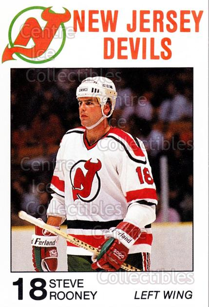 1988-89 New Jersey Devils Caretta #23 Steve Rooney<br/>3 In Stock - $3.00 each - <a href=https://centericecollectibles.foxycart.com/cart?name=1988-89%20New%20Jersey%20Devils%20Caretta%20%2323%20Steve%20Rooney...&quantity_max=3&price=$3.00&code=23008 class=foxycart> Buy it now! </a>