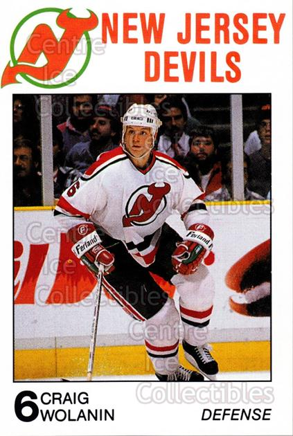 1988-89 New Jersey Devils Caretta #30 Craig Wolanin<br/>8 In Stock - $3.00 each - <a href=https://centericecollectibles.foxycart.com/cart?name=1988-89%20New%20Jersey%20Devils%20Caretta%20%2330%20Craig%20Wolanin...&quantity_max=8&price=$3.00&code=23016 class=foxycart> Buy it now! </a>