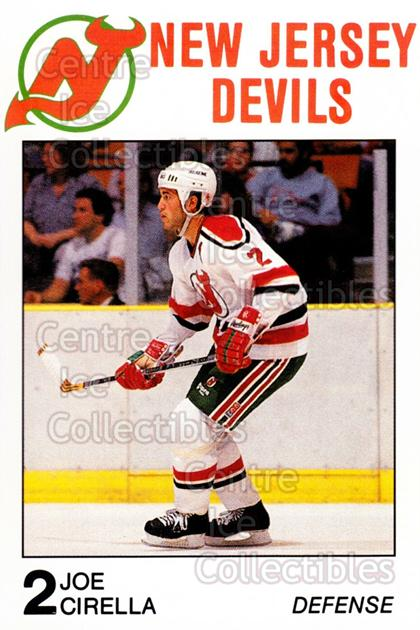 1988-89 New Jersey Devils Caretta #7 Joe Cirella<br/>7 In Stock - $3.00 each - <a href=https://centericecollectibles.foxycart.com/cart?name=1988-89%20New%20Jersey%20Devils%20Caretta%20%237%20Joe%20Cirella...&quantity_max=7&price=$3.00&code=23019 class=foxycart> Buy it now! </a>