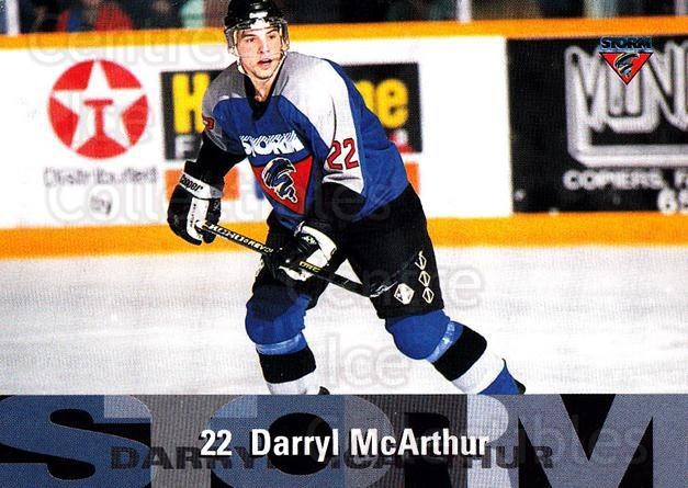 1996-97 Guelph Storm #16 Darryl McArthur<br/>2 In Stock - $3.00 each - <a href=https://centericecollectibles.foxycart.com/cart?name=1996-97%20Guelph%20Storm%20%2316%20Darryl%20McArthur...&quantity_max=2&price=$3.00&code=230203 class=foxycart> Buy it now! </a>