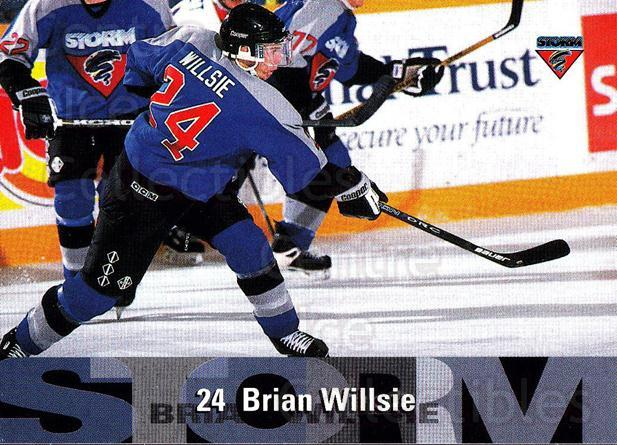 1996-97 Guelph Storm #18 Brian Willsie<br/>1 In Stock - $3.00 each - <a href=https://centericecollectibles.foxycart.com/cart?name=1996-97%20Guelph%20Storm%20%2318%20Brian%20Willsie...&quantity_max=1&price=$3.00&code=230205 class=foxycart> Buy it now! </a>