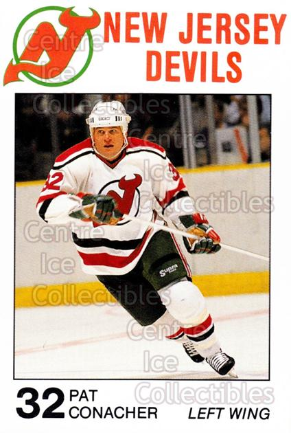 1988-89 New Jersey Devils Caretta #8 Pat Conacher<br/>8 In Stock - $3.00 each - <a href=https://centericecollectibles.foxycart.com/cart?name=1988-89%20New%20Jersey%20Devils%20Caretta%20%238%20Pat%20Conacher...&quantity_max=8&price=$3.00&code=23020 class=foxycart> Buy it now! </a>