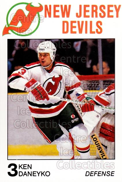 1988-89 New Jersey Devils Caretta #9 Ken Daneyko<br/>4 In Stock - $3.00 each - <a href=https://centericecollectibles.foxycart.com/cart?name=1988-89%20New%20Jersey%20Devils%20Caretta%20%239%20Ken%20Daneyko...&quantity_max=4&price=$3.00&code=23021 class=foxycart> Buy it now! </a>