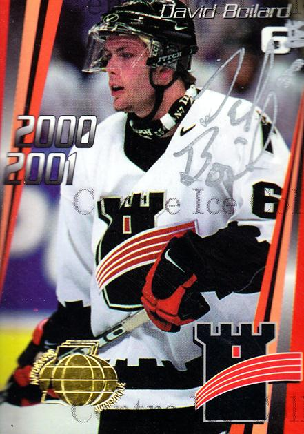 2000-01 Quebec Remparts Autographed #4 David Boilard<br/>4 In Stock - $5.00 each - <a href=https://centericecollectibles.foxycart.com/cart?name=2000-01%20Quebec%20Remparts%20Autographed%20%234%20David%20Boilard...&price=$5.00&code=230259 class=foxycart> Buy it now! </a>