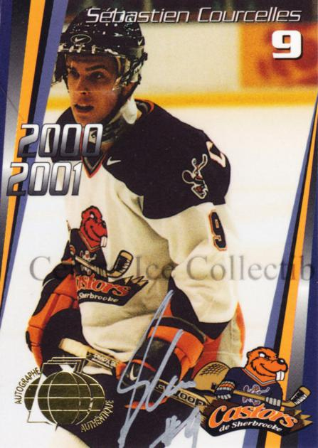 2000-01 Sherbrooke Castors Autographed #2 Sebastien Courcelles<br/>2 In Stock - $5.00 each - <a href=https://centericecollectibles.foxycart.com/cart?name=2000-01%20Sherbrooke%20Castors%20Autographed%20%232%20Sebastien%20Courc...&price=$5.00&code=230303 class=foxycart> Buy it now! </a>