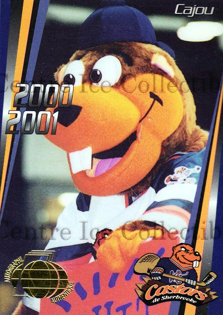 2000-01 Sherbrooke Castors Autographed #22 Mascot<br/>2 In Stock - $2.00 each - <a href=https://centericecollectibles.foxycart.com/cart?name=2000-01%20Sherbrooke%20Castors%20Autographed%20%2322%20Mascot...&price=$2.00&code=230319 class=foxycart> Buy it now! </a>
