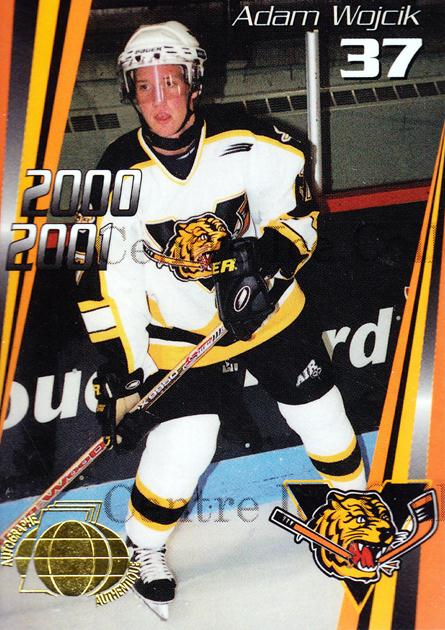 2000-01 Victoriaville Tigres Autographed #15 Adam Wojcik<br/>3 In Stock - $5.00 each - <a href=https://centericecollectibles.foxycart.com/cart?name=2000-01%20Victoriaville%20Tigres%20Autographed%20%2315%20Adam%20Wojcik...&quantity_max=3&price=$5.00&code=230335 class=foxycart> Buy it now! </a>