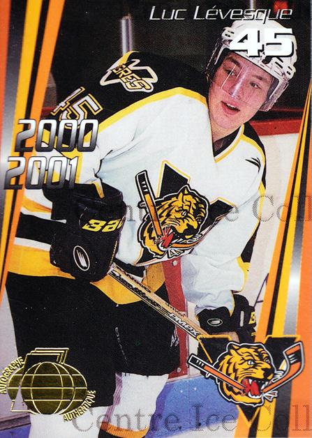 2000-01 Victoriaville Tigres Autographed #19 Luc Levesque<br/>2 In Stock - $5.00 each - <a href=https://centericecollectibles.foxycart.com/cart?name=2000-01%20Victoriaville%20Tigres%20Autographed%20%2319%20Luc%20Levesque...&quantity_max=2&price=$5.00&code=230339 class=foxycart> Buy it now! </a>