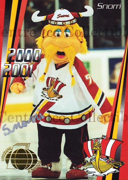 2000-01 Baie Comeau Drakkar Autographed #26 Mascot<br/>5 In Stock - $5.00 each - <a href=https://centericecollectibles.foxycart.com/cart?name=2000-01%20Baie%20Comeau%20Drakkar%20Autographed%20%2326%20Mascot...&quantity_max=5&price=$5.00&code=230370 class=foxycart> Buy it now! </a>