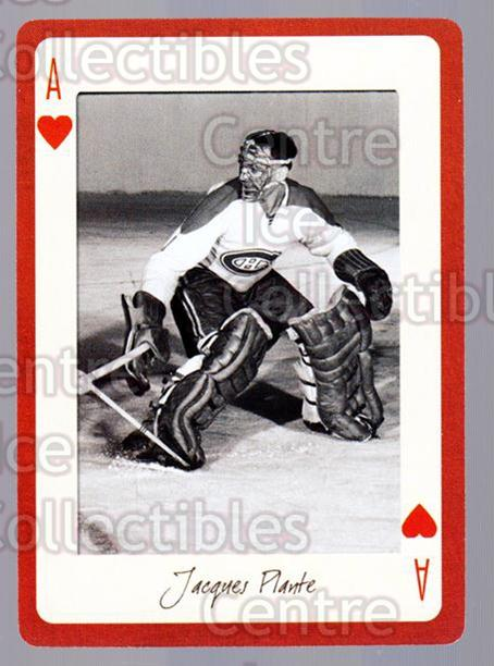 2005 Montreal Canadiens Legends Playing Card #14 Jacques Plante<br/>2 In Stock - $2.00 each - <a href=https://centericecollectibles.foxycart.com/cart?name=2005%20Montreal%20Canadiens%20Legends%20Playing%20Card%20%2314%20Jacques%20Plante...&quantity_max=2&price=$2.00&code=230540 class=foxycart> Buy it now! </a>