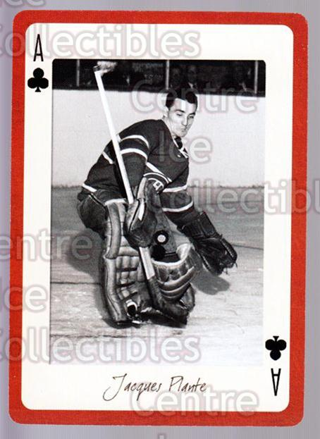 2005 Montreal Canadiens Legends Playing Card #27 Jacques Plante<br/>5 In Stock - $2.00 each - <a href=https://centericecollectibles.foxycart.com/cart?name=2005%20Montreal%20Canadiens%20Legends%20Playing%20Card%20%2327%20Jacques%20Plante...&quantity_max=5&price=$2.00&code=230553 class=foxycart> Buy it now! </a>