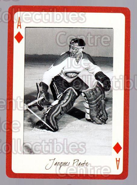 2005 Montreal Canadiens Legends Playing Card #40 Jacques Plante<br/>5 In Stock - $2.00 each - <a href=https://centericecollectibles.foxycart.com/cart?name=2005%20Montreal%20Canadiens%20Legends%20Playing%20Card%20%2340%20Jacques%20Plante...&quantity_max=5&price=$2.00&code=230566 class=foxycart> Buy it now! </a>