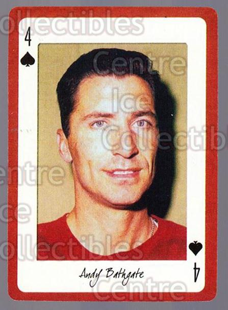 2005 Detroit Red Wings Legends Playing Card #4 Andy Bathgate<br/>3 In Stock - $2.00 each - <a href=https://centericecollectibles.foxycart.com/cart?name=2005%20Detroit%20Red%20Wings%20Legends%20Playing%20Card%20%234%20Andy%20Bathgate...&quantity_max=3&price=$2.00&code=230583 class=foxycart> Buy it now! </a>