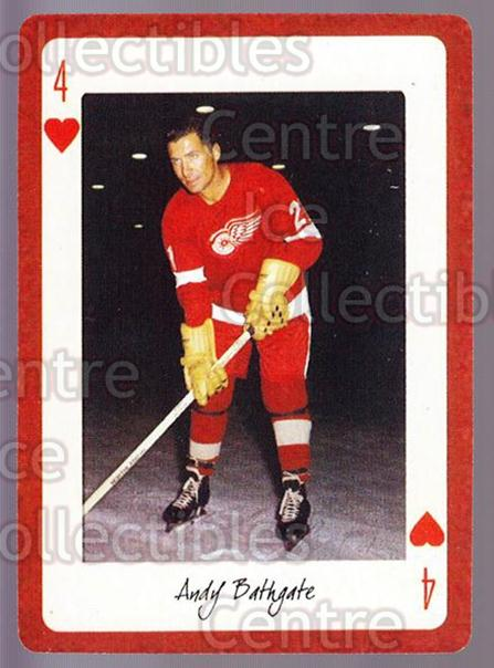 2005 Detroit Red Wings Legends Playing Card #17 Andy Bathgate<br/>3 In Stock - $2.00 each - <a href=https://centericecollectibles.foxycart.com/cart?name=2005%20Detroit%20Red%20Wings%20Legends%20Playing%20Card%20%2317%20Andy%20Bathgate...&quantity_max=3&price=$2.00&code=230596 class=foxycart> Buy it now! </a>