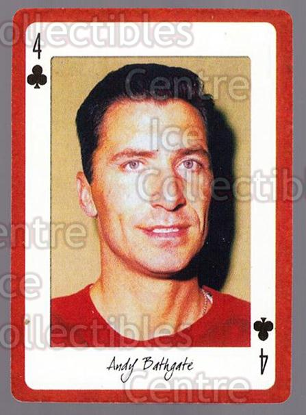 2005 Detroit Red Wings Legends Playing Card #30 Andy Bathgate<br/>3 In Stock - $2.00 each - <a href=https://centericecollectibles.foxycart.com/cart?name=2005%20Detroit%20Red%20Wings%20Legends%20Playing%20Card%20%2330%20Andy%20Bathgate...&quantity_max=3&price=$2.00&code=230609 class=foxycart> Buy it now! </a>