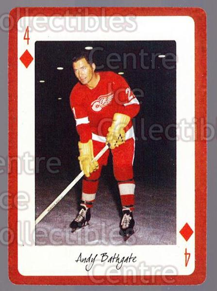 2005 Detroit Red Wings Legends Playing Card #43 Andy Bathgate<br/>3 In Stock - $2.00 each - <a href=https://centericecollectibles.foxycart.com/cart?name=2005%20Detroit%20Red%20Wings%20Legends%20Playing%20Card%20%2343%20Andy%20Bathgate...&quantity_max=3&price=$2.00&code=230622 class=foxycart> Buy it now! </a>