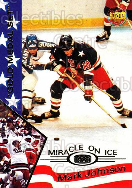 1995 Signature Rookies Miracle on Ice Gold Medal #18 Mark Johnson<br/>1 In Stock - $2.00 each - <a href=https://centericecollectibles.foxycart.com/cart?name=1995%20Signature%20Rookies%20Miracle%20on%20Ice%20Gold%20Medal%20%2318%20Mark%20Johnson...&quantity_max=1&price=$2.00&code=230710 class=foxycart> Buy it now! </a>