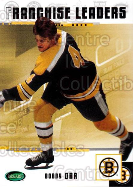 2003-04 Parkhurst Original Six Boston Bruins #97 Bobby Orr<br/>5 In Stock - $3.00 each - <a href=https://centericecollectibles.foxycart.com/cart?name=2003-04%20Parkhurst%20Original%20Six%20Boston%20Bruins%20%2397%20Bobby%20Orr...&price=$3.00&code=230815 class=foxycart> Buy it now! </a>