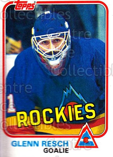 1981-82 Topps #W085 Glenn Resch<br/>1 In Stock - $1.00 each - <a href=https://centericecollectibles.foxycart.com/cart?name=1981-82%20Topps%20%23W085%20Glenn%20Resch...&quantity_max=1&price=$1.00&code=231285 class=foxycart> Buy it now! </a>