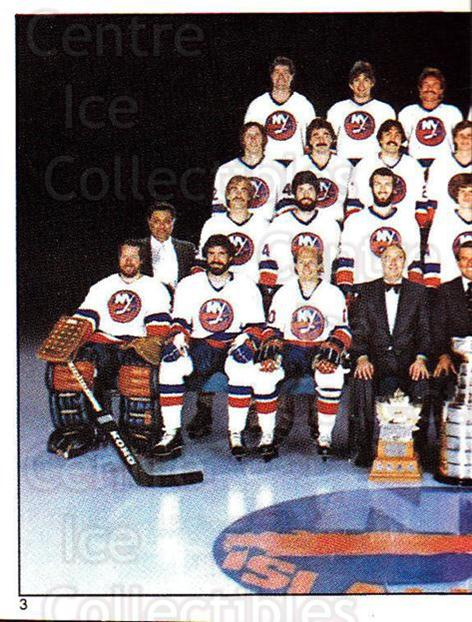 1982-83 O-Pee-Chee Stickers #3 New York Islanders, Team Photo<br/>3 In Stock - $1.00 each - <a href=https://centericecollectibles.foxycart.com/cart?name=1982-83%20O-Pee-Chee%20Stickers%20%233%20New%20York%20Island...&price=$1.00&code=231333 class=foxycart> Buy it now! </a>