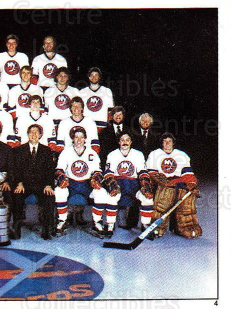 1982-83 O-Pee-Chee Stickers #4 New York Islanders, Team Photo<br/>3 In Stock - $1.00 each - <a href=https://centericecollectibles.foxycart.com/cart?name=1982-83%20O-Pee-Chee%20Stickers%20%234%20New%20York%20Island...&price=$1.00&code=231334 class=foxycart> Buy it now! </a>