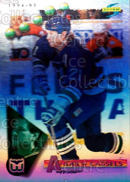 1994-95 Score Platinum #34 Andrew Cassels<br/>9 In Stock - $2.00 each - <a href=https://centericecollectibles.foxycart.com/cart?name=1994-95%20Score%20Platinum%20%2334%20Andrew%20Cassels...&quantity_max=9&price=$2.00&code=231387 class=foxycart> Buy it now! </a>
