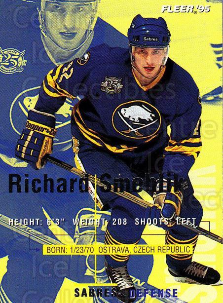 1994-95 Fleer #27 Richard Smehlik<br/>4 In Stock - $1.00 each - <a href=https://centericecollectibles.foxycart.com/cart?name=1994-95%20Fleer%20%2327%20Richard%20Smehlik...&quantity_max=4&price=$1.00&code=231643 class=foxycart> Buy it now! </a>