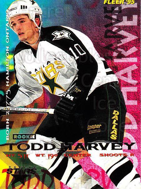 1994-95 Fleer #51 Todd Harvey<br/>4 In Stock - $1.00 each - <a href=https://centericecollectibles.foxycart.com/cart?name=1994-95%20Fleer%20%2351%20Todd%20Harvey...&quantity_max=4&price=$1.00&code=231667 class=foxycart> Buy it now! </a>