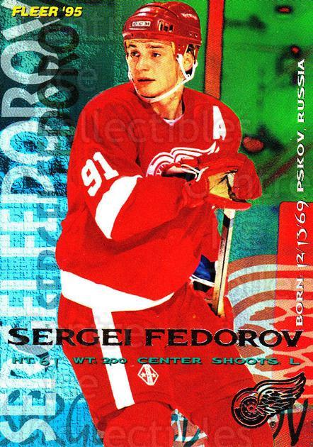 1994-95 Fleer #59 Sergei Fedorov<br/>5 In Stock - $1.00 each - <a href=https://centericecollectibles.foxycart.com/cart?name=1994-95%20Fleer%20%2359%20Sergei%20Fedorov...&quantity_max=5&price=$1.00&code=231675 class=foxycart> Buy it now! </a>