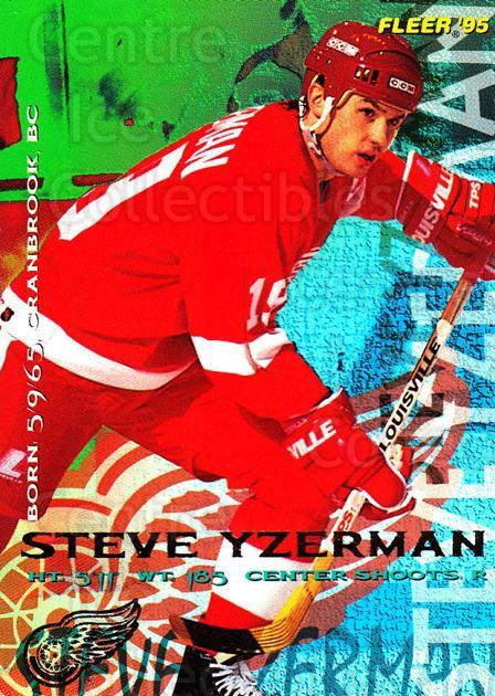 1994-95 Fleer #67 Steve Yzerman<br/>3 In Stock - $1.00 each - <a href=https://centericecollectibles.foxycart.com/cart?name=1994-95%20Fleer%20%2367%20Steve%20Yzerman...&price=$1.00&code=231683 class=foxycart> Buy it now! </a>