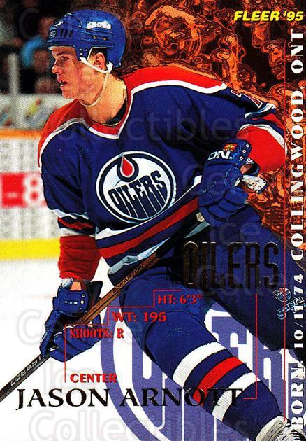 1994-95 Fleer #68 Jason Arnott<br/>3 In Stock - $1.00 each - <a href=https://centericecollectibles.foxycart.com/cart?name=1994-95%20Fleer%20%2368%20Jason%20Arnott...&quantity_max=3&price=$1.00&code=231684 class=foxycart> Buy it now! </a>