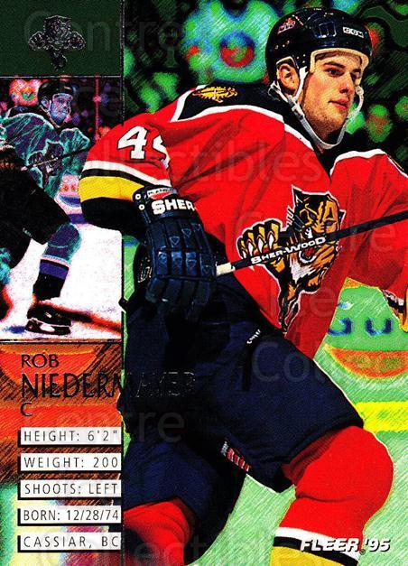 1994-95 Fleer #82 Rob Niedermayer<br/>5 In Stock - $1.00 each - <a href=https://centericecollectibles.foxycart.com/cart?name=1994-95%20Fleer%20%2382%20Rob%20Niedermayer...&quantity_max=5&price=$1.00&code=231698 class=foxycart> Buy it now! </a>