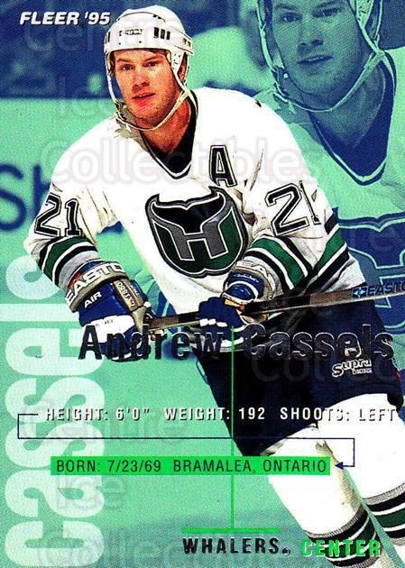 1994-95 Fleer #86 Andrew Cassels<br/>5 In Stock - $1.00 each - <a href=https://centericecollectibles.foxycart.com/cart?name=1994-95%20Fleer%20%2386%20Andrew%20Cassels...&quantity_max=5&price=$1.00&code=231702 class=foxycart> Buy it now! </a>