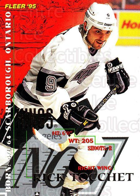 1994-95 Fleer #100 Rick Tocchet<br/>4 In Stock - $1.00 each - <a href=https://centericecollectibles.foxycart.com/cart?name=1994-95%20Fleer%20%23100%20Rick%20Tocchet...&quantity_max=4&price=$1.00&code=231716 class=foxycart> Buy it now! </a>