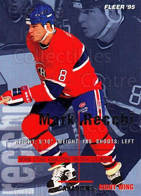 1994-95 Fleer #106 Mark Recchi<br/>4 In Stock - $1.00 each - <a href=https://centericecollectibles.foxycart.com/cart?name=1994-95%20Fleer%20%23106%20Mark%20Recchi...&quantity_max=4&price=$1.00&code=231722 class=foxycart> Buy it now! </a>